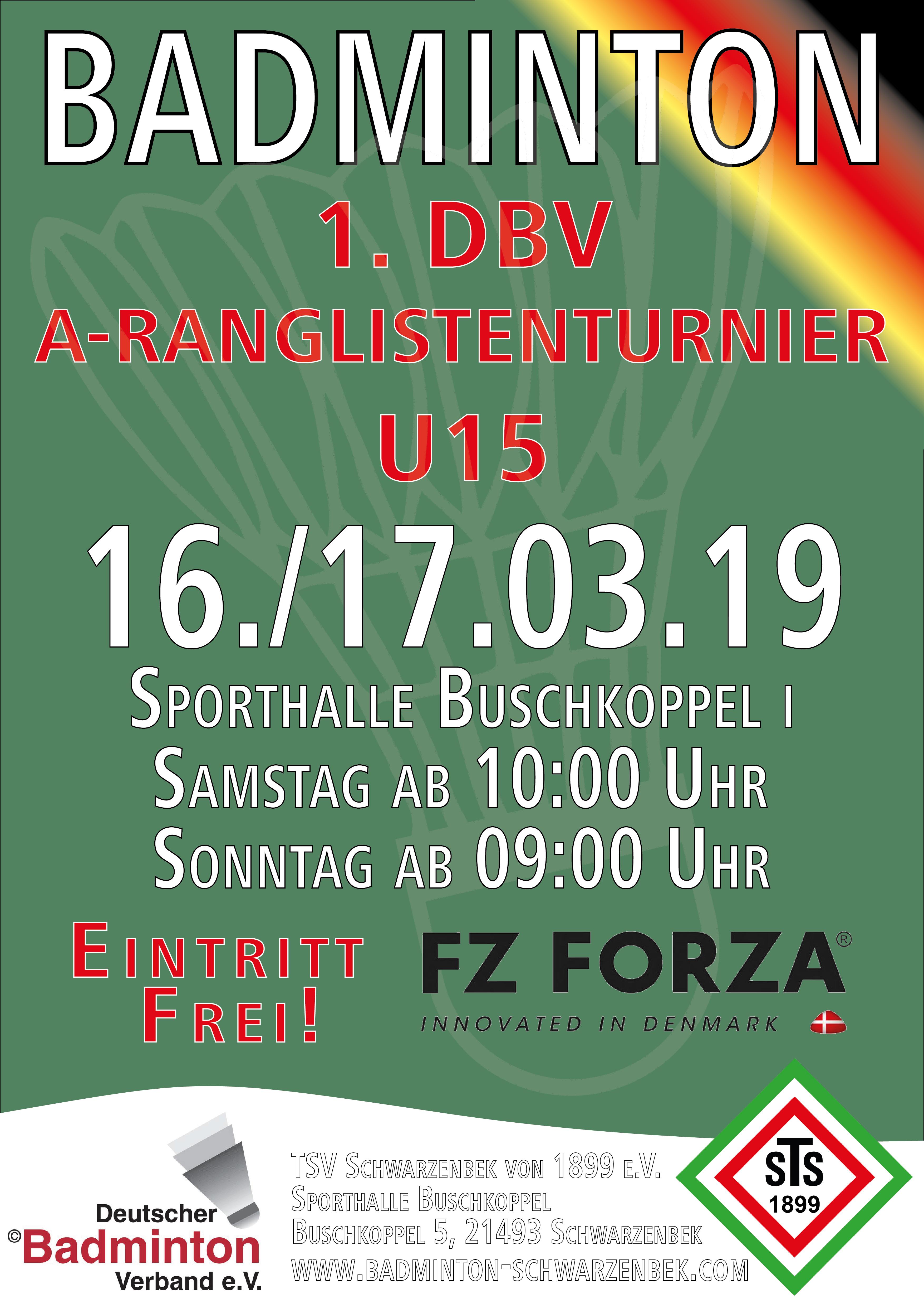 Plakat 1. DBV A-Ranglistenturnier 2019_A3